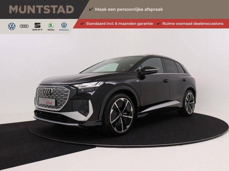 Audi Q4 40 e-tron Launch edition S Competition | Panoramadak | Lederen bekleding | Sonos | Head-up display afbeelding 1