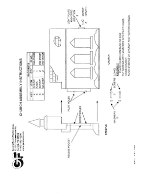 General Foam Plastics Church #C1475 Instruction Manual.pdf preview