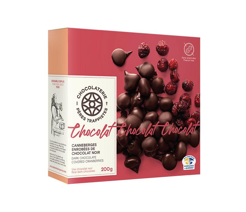 Chocolat Canneberges enrobées de chocolat noir