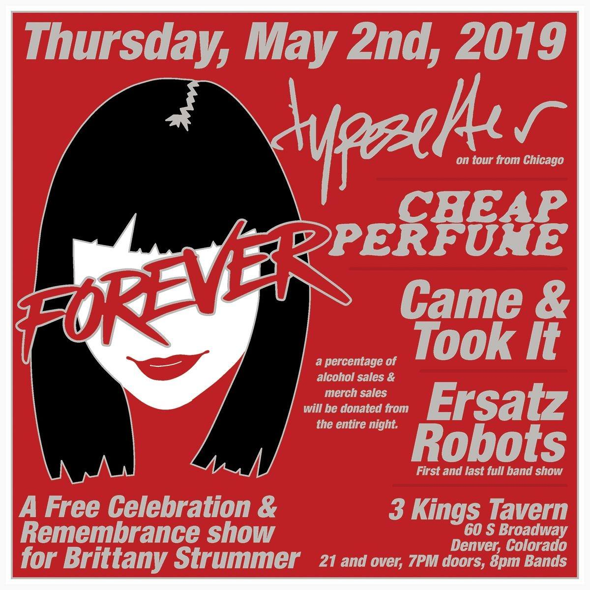Brittany Strummer memorial show at 3 Kings Tavern – May 2, 2019