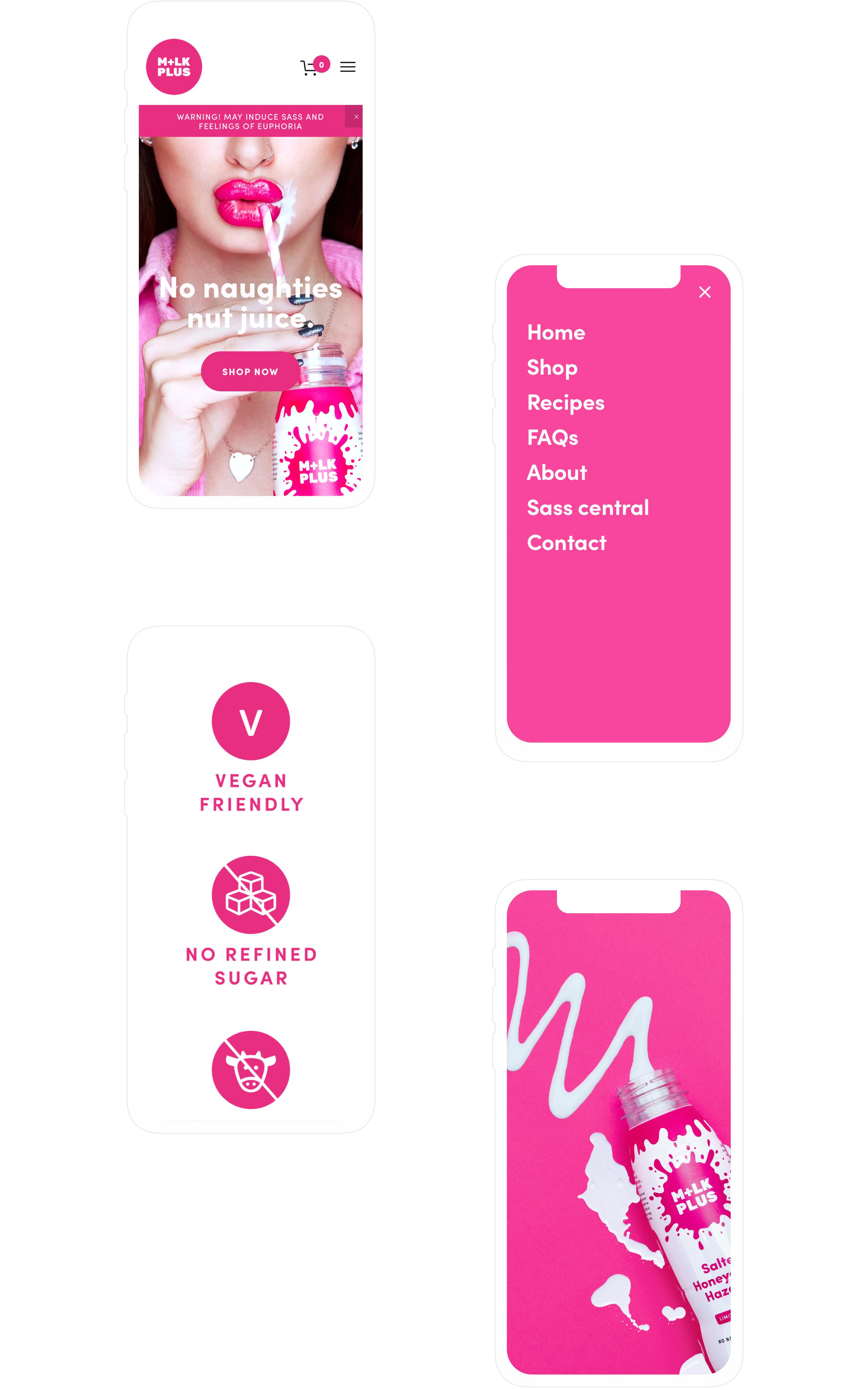 Mobile first website design for M+LKPLUS
