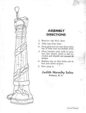 Empire Lamp Post #1369 Instruction Manual.pdf preview