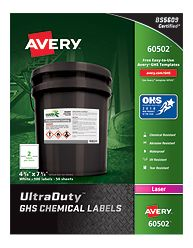 Avery UltraDuty GHS Chemical Labels box