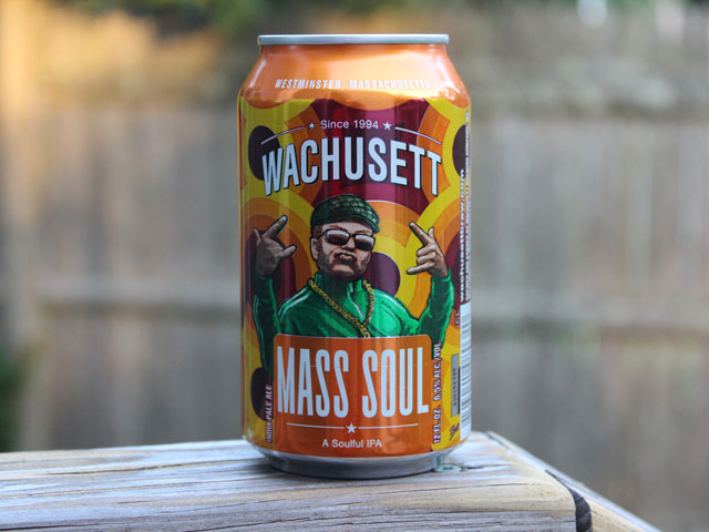 Mass Soul, an IPA brewed by Wachusett Brewing Company