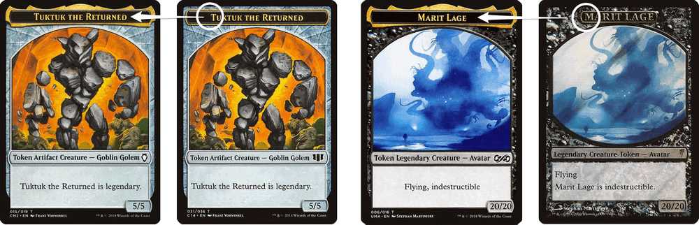 MTG Legendary name token design change