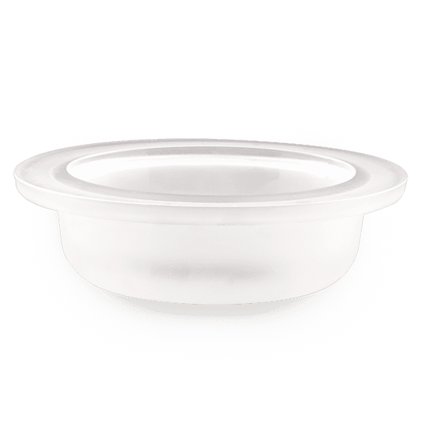 Medium Frosted Glass Dish with Logo
