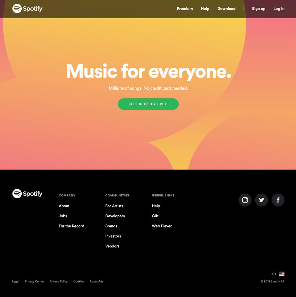 Spotify simple navigation