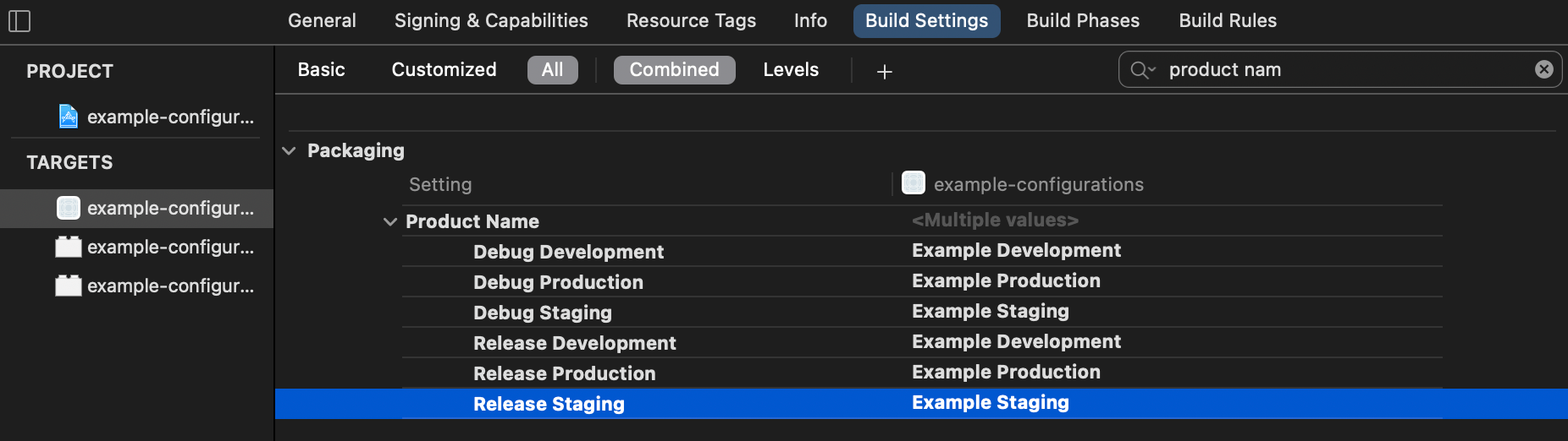 Double-click on each value to edit it.