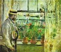 'Eugene Manet on the Isle of Wight' by Berthe Morisot (1875)