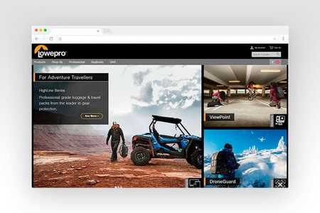 Web design for Lowepro