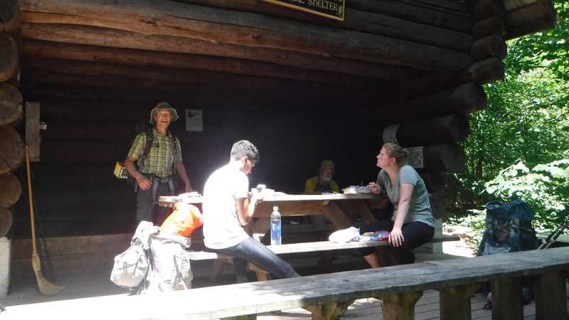 Lunch at Ed Garvey Shelter