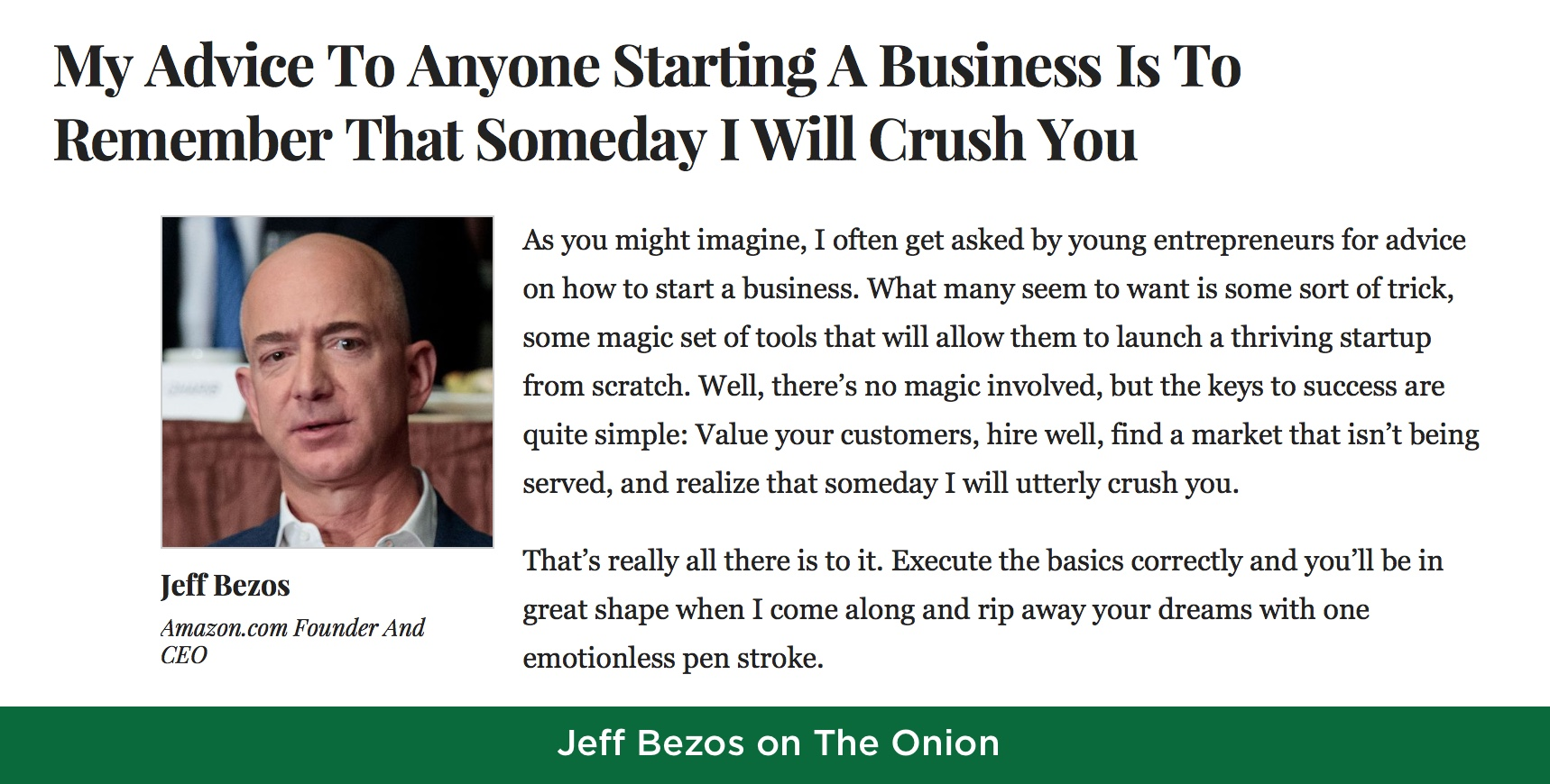 Jeff Bezos on Execution