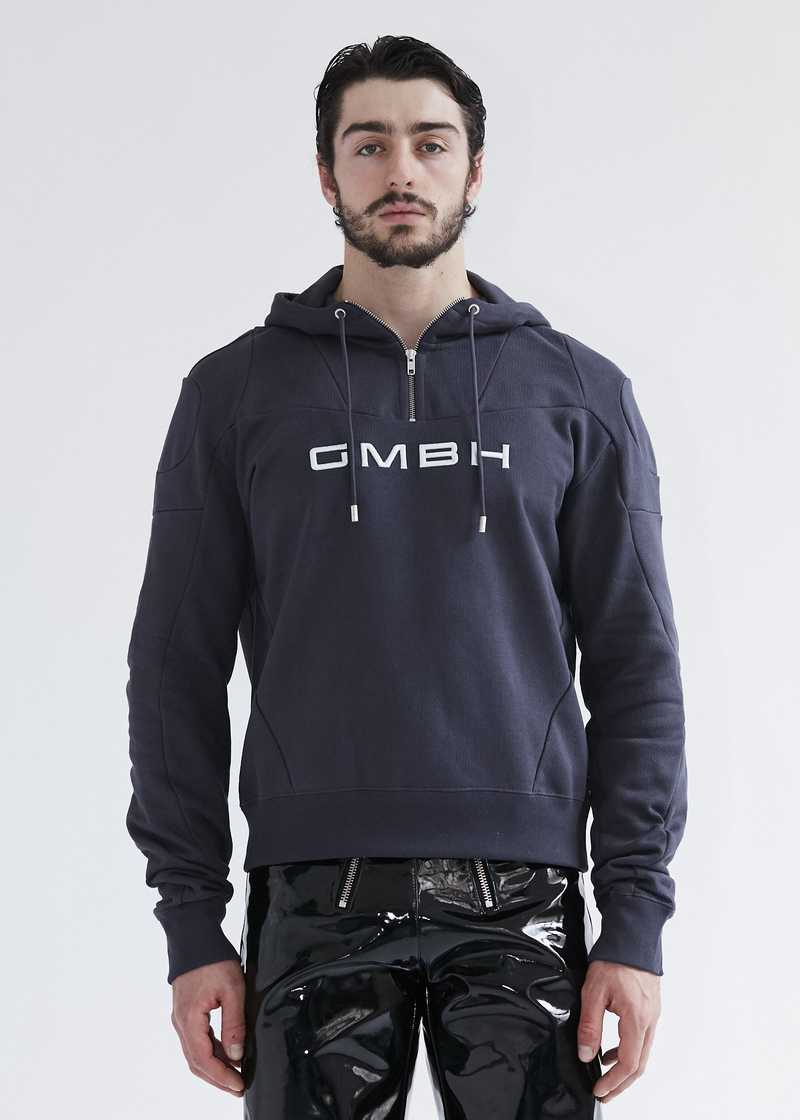 Dash patchwork hoodie grey. GmbH SS20 collection.