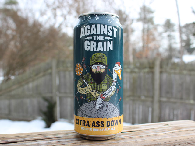 Citra Ass Down, a Double IPA brewed by Against the Grain