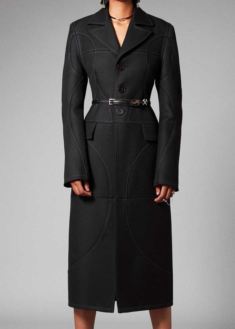 AISHA coat in black. GmbH Spring/Summer 2021 'RITUALS OF RESISTANCE'