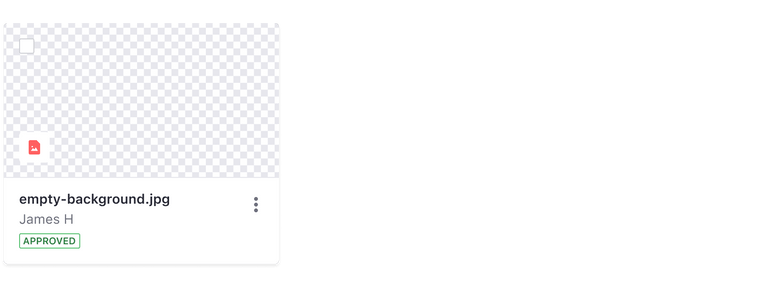 card with image empty state, no image, gray background grid