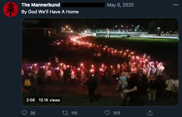 The Männerbund on twitter directly tying their messaging to Unite the Right