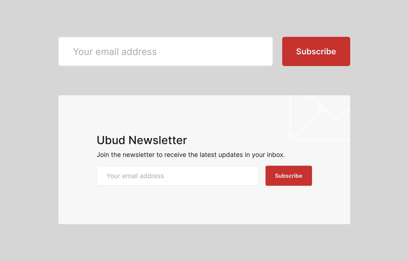 Ubud Ghost CMS Theme Subscribe Forms