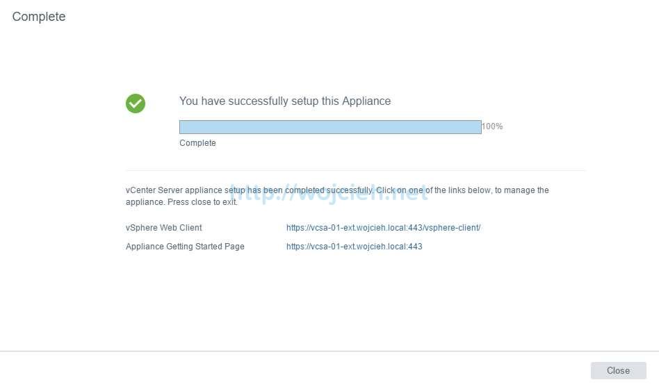 vCenter Server Appliance 6.5 with External Platform Services Controller - 34