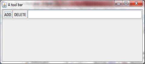 A non-floatable toolbar