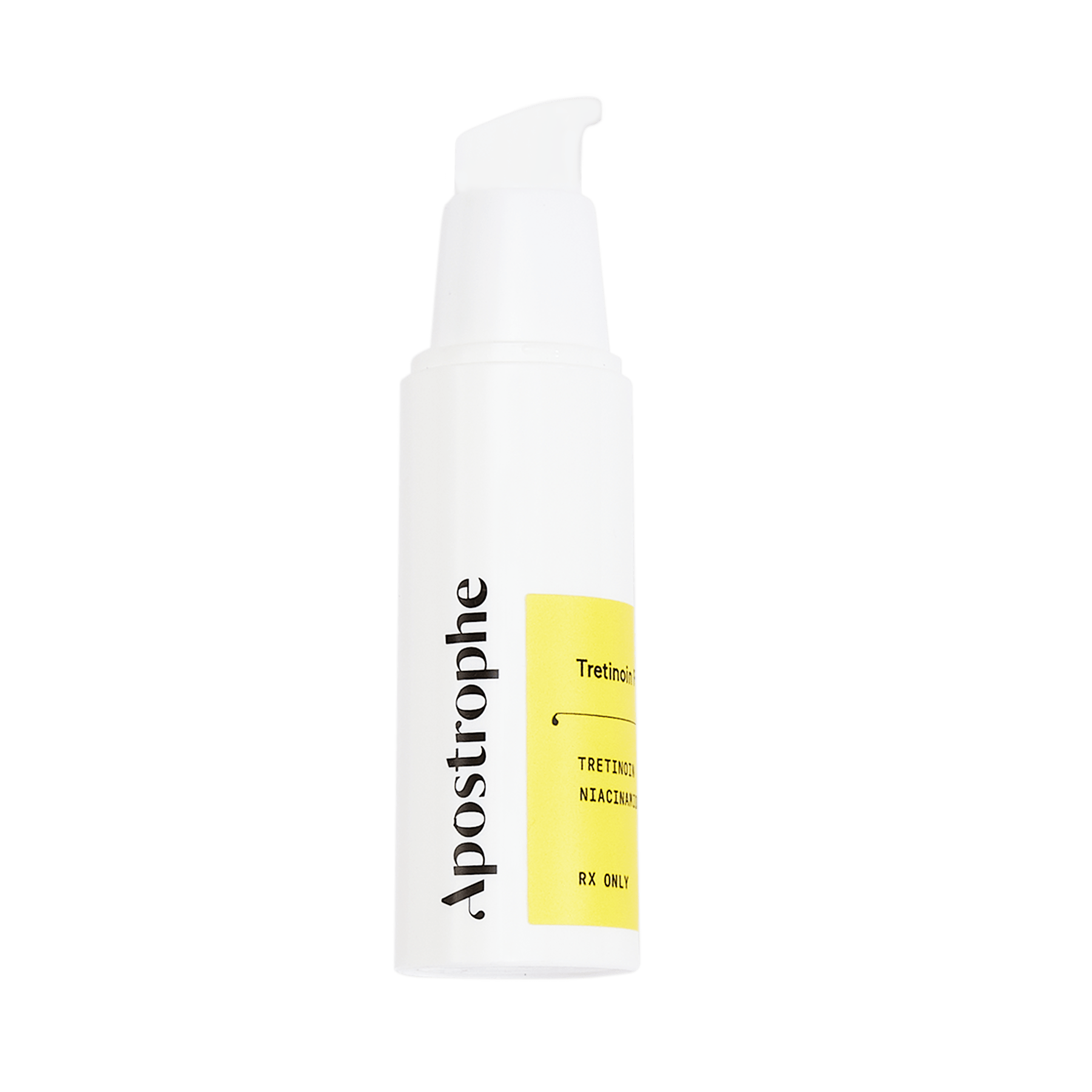 Apostrophe topical medication bottle