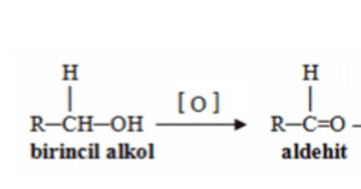 Alkollerin Kimyasal Tepkimeleri