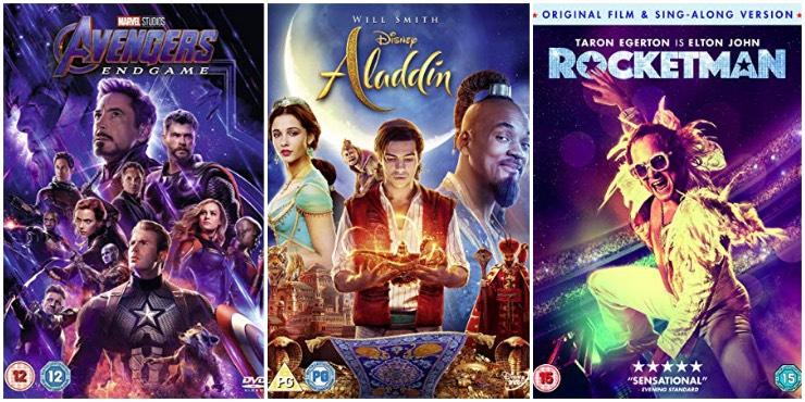 Avengers: Endgame, Aladdin, Rocketman