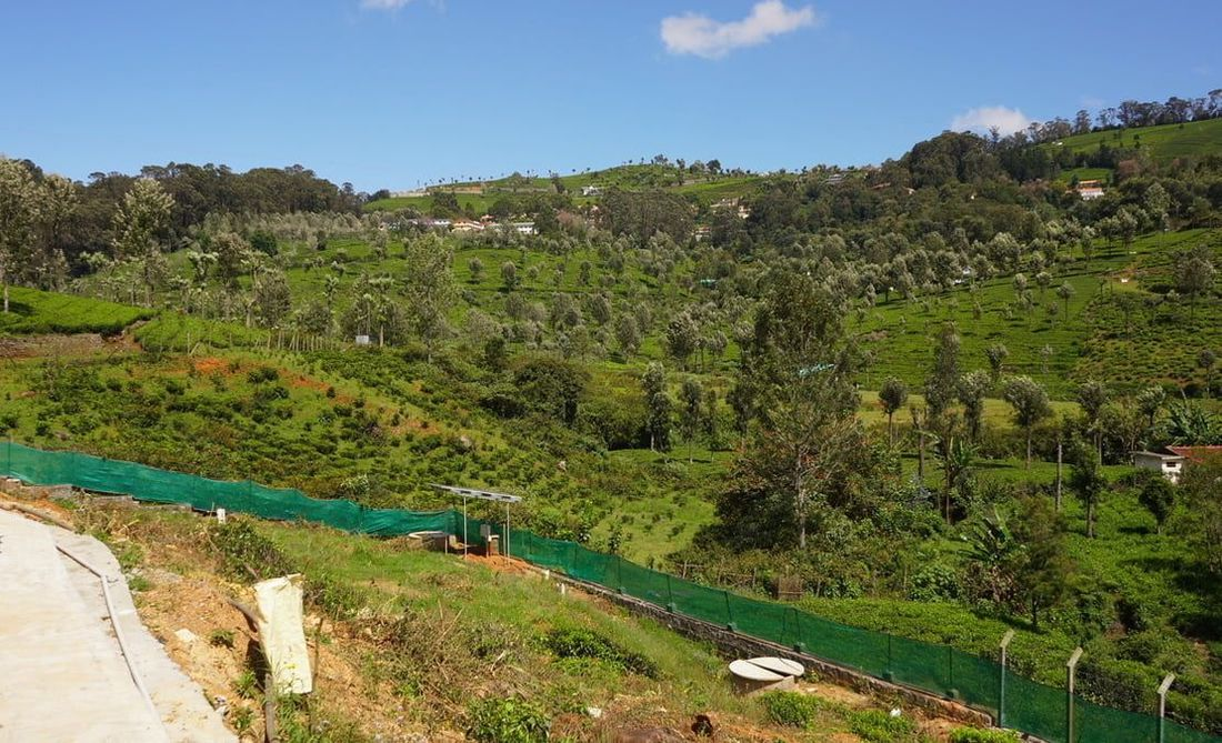 View of the hills of Coonoor from Hill Valley Enclave near Wellington