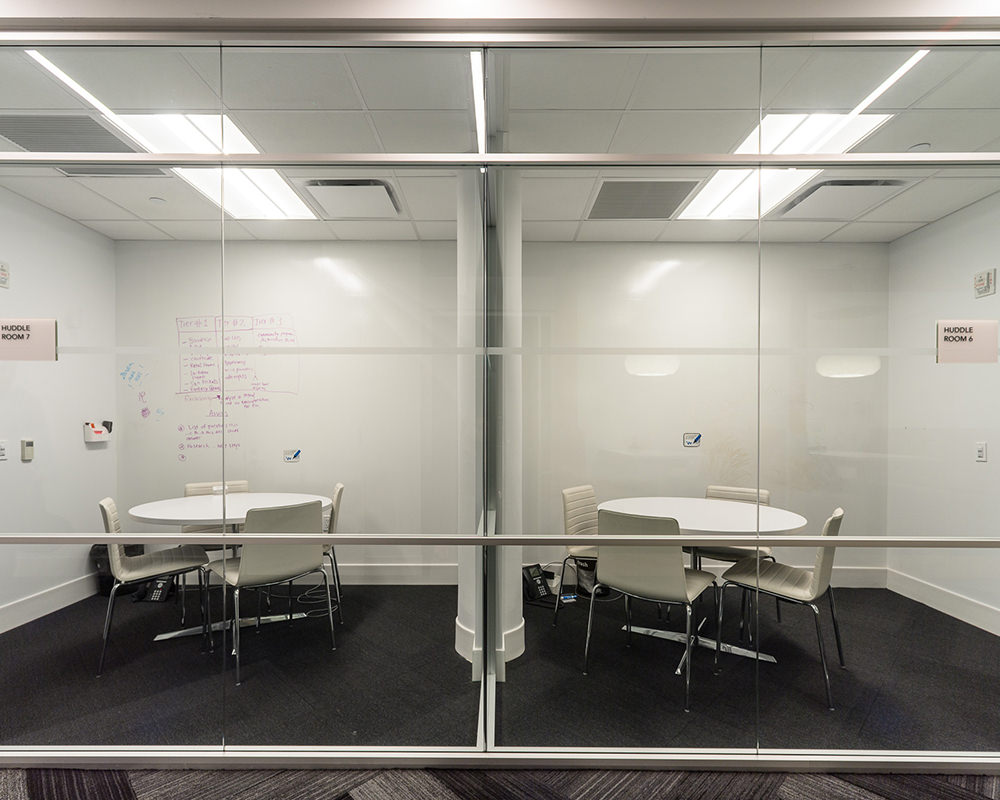 2 Office Rooms with Glass walls and Multi-Level Frame