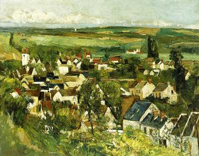 Auvers, Panoramic View by Paul Cezanne, 1873/75, Art Institute of Chicago