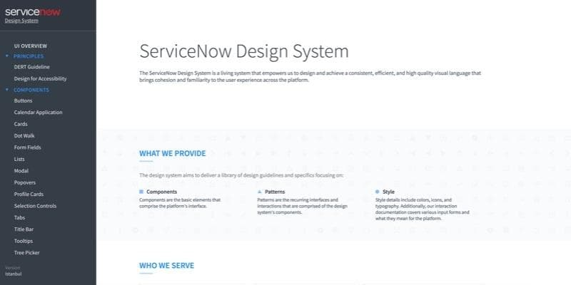 ServiceNow Design System