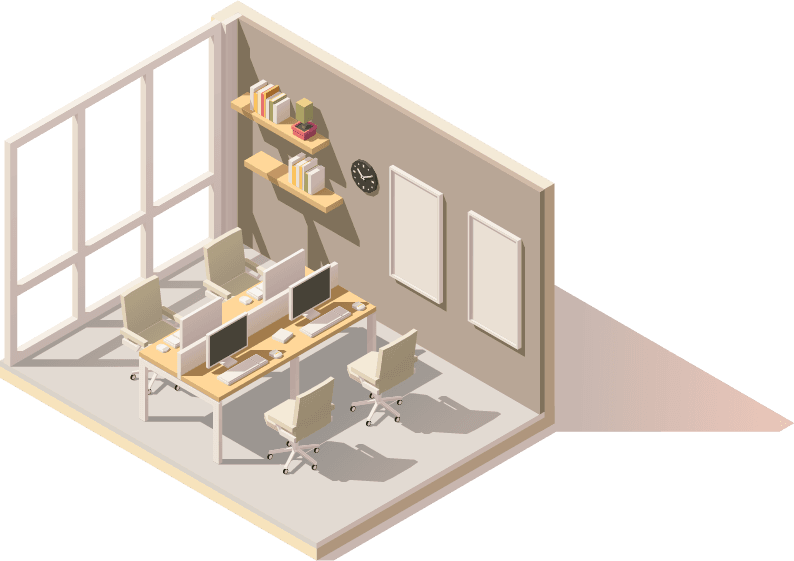 Illustration of a office boardroom