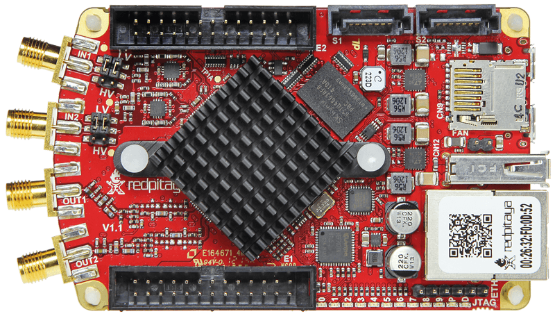 Red Pitaya v1.1 circuit board