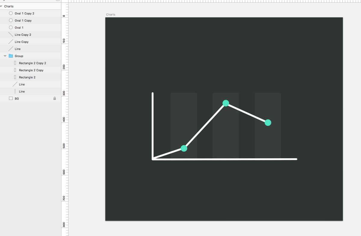 Kurvendiagramm in Sketch