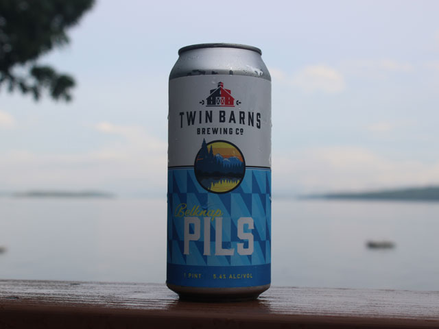 Belknap Pils, a Classic German-Style Pilsner brewed by Twin Barns Brewing Company