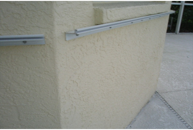 F-Track 1 inch Build Out to keep Hurricane Panels flush with the Window ledge protusion