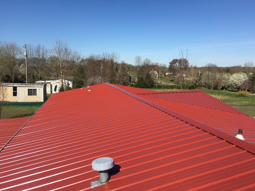 beautiful red metal roof