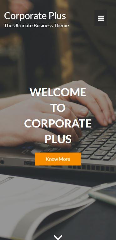 Demo Preview Mobile Smartphone for Corporate Plus