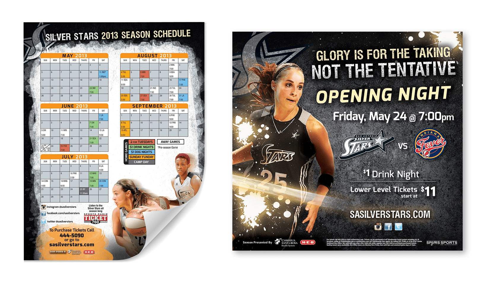Silver Stars Schedule and Ad
