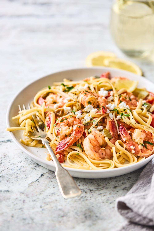 Greek Shrimp Scampi