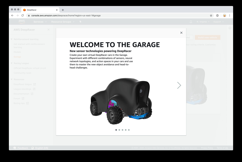AWS DeepRacer Garage 1