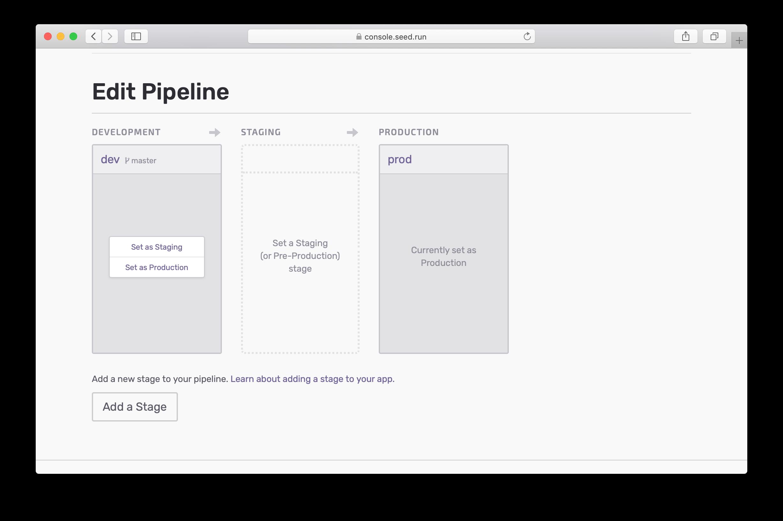 Edit Seed pipeline
