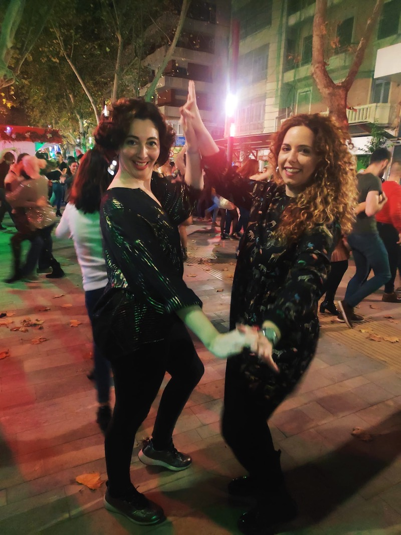 bailarinas la calle salsa
