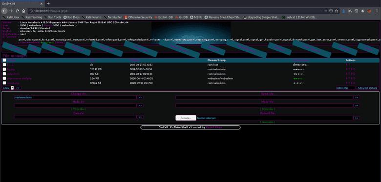smevk.php webshell after login