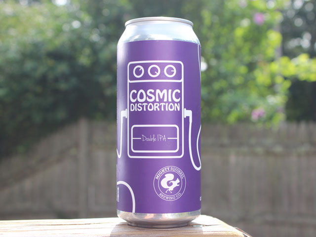 Cosmic Distortion, a Double IPA brewed by Mighty Squirrel Brewing Company