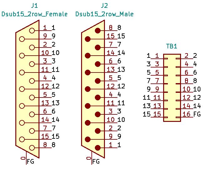 DA15MF-TB2X8の回路図