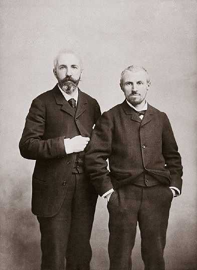 Gustave Caillebotte (right) with his brother, Martial before 1895
