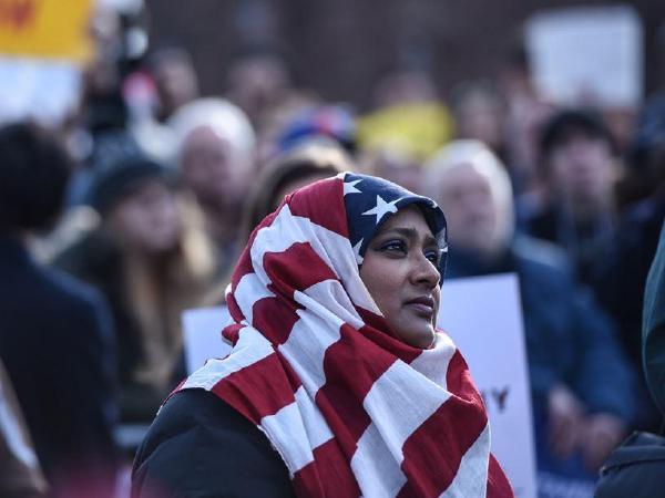 무슬림입국금지  대규모  항의시위 , 곳곳에서 열려