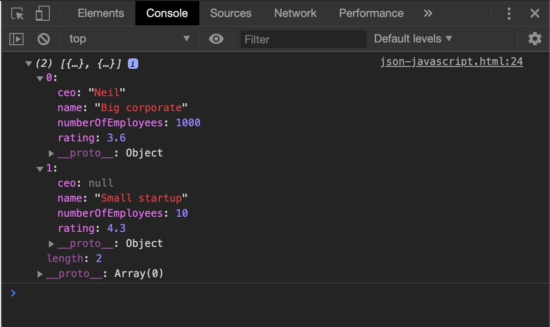 JSON javascript example