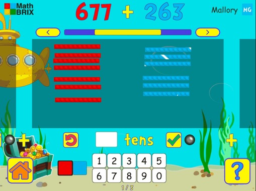 Add two 3-digit numbers (regrouping) Math Game